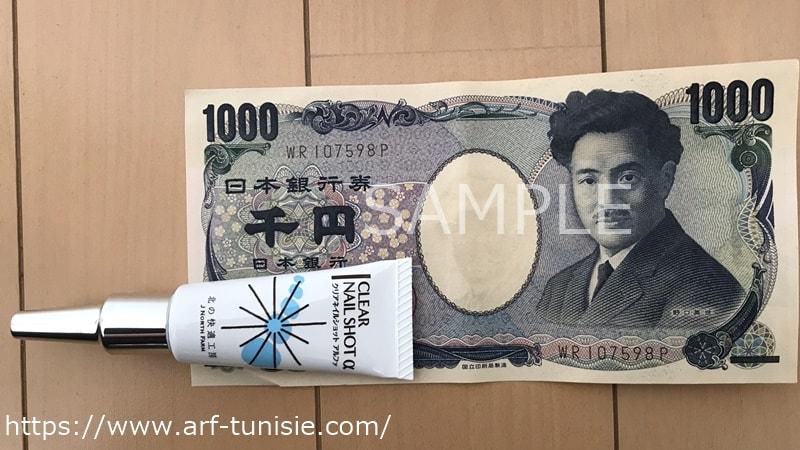 1000円札と大きさ比較